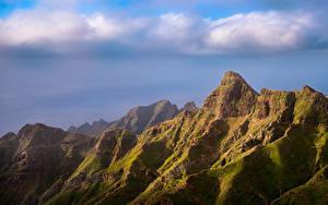 Fotos Spanien Gebirge Felsen Wolke Tenerife, Anaga Natur
