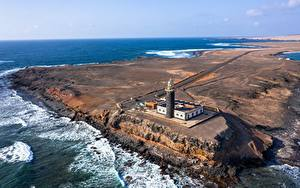 Fotos Spanien Ozean Leuchtturm Kanarische Inseln Von oben  Natur