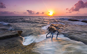 Bilder Spanien Meer Sonnenaufgänge und Sonnenuntergänge Sonne Horizont Alicante