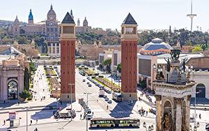 Bilder Spanien Barcelona Platz Turm Spain Square Städte