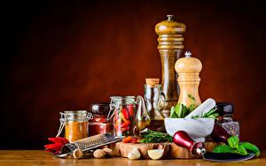 Bilder Gewürze Schalenobst Chili Pfeffer Knoblauch Einweckglas das Essen