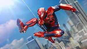 Fotos Spiderman Held Sprung computerspiel