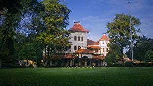 Bilder Sri Lanka Haus Rasen Bäume University of Colombo Städte