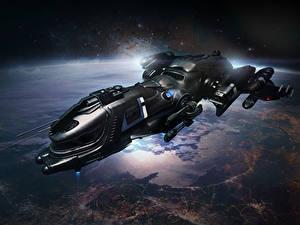 Photo Star Citizen Ships Freelancer DUR vdeo game Space Fantasy