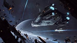 Bureaubladachtergronden Star Citizen Schip Veldslag videogames Ruimte Fantasy