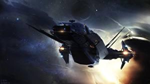 Bureaubladachtergronden Star Citizen Ruimteschip Computerspellen Fantasy Ruimte