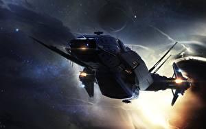 Desktop wallpapers Star Citizen Starship Games Fantasy Space