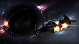 Bureaubladachtergronden Star Citizen Ruimteschip Planeten computerspel Fantasy Ruimte