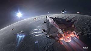 Bilder Star Conflict Raumschiff Planeten Flug Spiele Kosmos