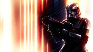 Fotos Star Wars Klontruppen Krieger Soldat Helm Rüstung computerspiel Fantasy