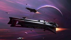 Fotos Raumschiff Star Conflict Flug computerspiel