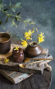 Bilder Stillleben Kaffee Törtchen Schokolade Ast Löffel