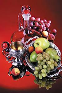 Hintergrundbilder Stillleben Weintraube Äpfel Birnen Marille Krüge Weinglas
