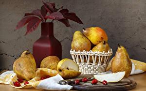 Images Still-life Pears Vase Foliage