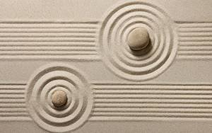 Hintergrundbilder Stein Sand Kreise zen