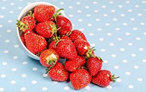 Bilder Erdbeeren Beere Schüssel