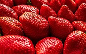 Hintergrundbilder Erdbeeren Großansicht das Essen