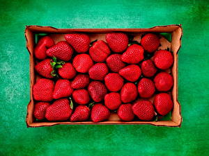 Image Strawberry Colored background Box Food