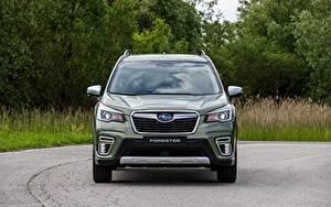 Fotos Subaru Vorne Grün Metallisch Softroader Forester 2019