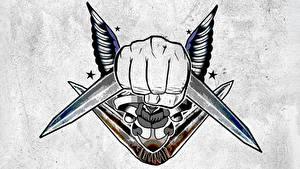 Hintergrundbilder Suicide Squad 2016 Logo Emblem Tätowierung Captain Boomerang Film