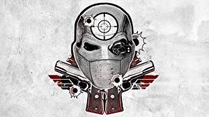 Fotos Suicide Squad 2016 Logo Emblem Tätowierung Deadshot Film