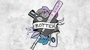 Hintergrundbilder Suicide Squad 2016 Logo Emblem Tätowierung Harley Quinn Film