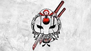 Bilder Suicide Squad 2016 Logo Emblem Tätowierung Katana Film