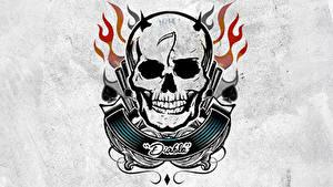 Bilder Suicide Squad 2016 Cranium Logo Emblem Tätowierung El Diablo Film
