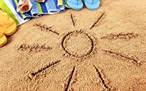 Fotos Sommer Sand Sonne