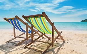 Hintergrundbilder Sommer Meer Strände Sand Ruhen Sonnenliege