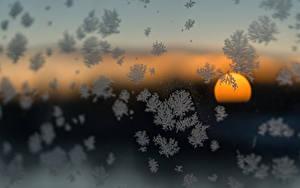 Hintergrundbilder Sonnenaufgänge und Sonnenuntergänge Winter Schneeflocken Sonne Glas