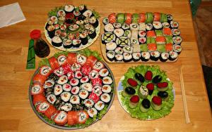 Desktop hintergrundbilder Sushi Viel Kaviar das Essen