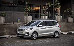 Hintergrundbilder Suzuki Ein Van Graue Metallisch 2019 Ertiga GL Autos