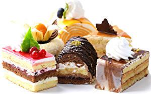 Bilder Süßware Törtchen Schokolade Weißer hintergrund Design