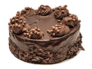 Fotos Süßware Torte Schokolade Weißer hintergrund Design Lebensmittel