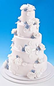 Hintergrundbilder Süßware Torte Rosen Farbigen hintergrund Design