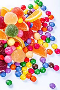 Hintergrundbilder Süßware Bonbon Marmelade Dragee Weißer hintergrund Bunte Lebensmittel