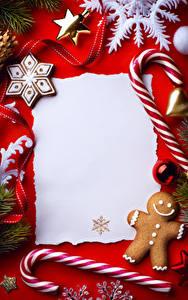 Bilder Süßigkeiten Kekse Neujahr Vorlage Grußkarte Design Schneeflocken Lebensmittel