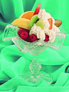 Hintergrundbilder Süßware Obst Himbeeren Nachtisch Die Sahne