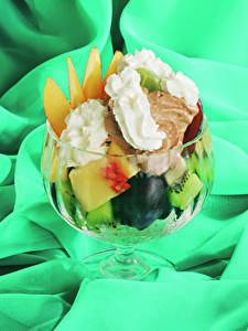 Bilder Süßigkeiten Speiseeis Obst Lebensmittel