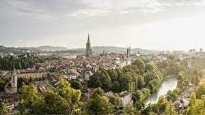 Bilder Schweiz Bern Fluss Gebäude Aare river Städte