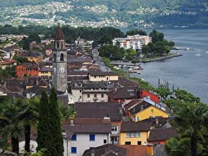 Fotos Schweiz Gebäude Küste Dach Lucerne Städte
