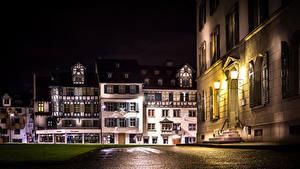 Bilder Schweiz Gebäude Nacht Straße Straßenlaterne St.Gallen Städte