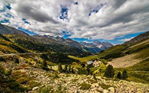 Fotos Schweiz Gebirge Alpen Wolke Ein Tal Albula Pass