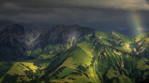 Fotos Schweiz Berg Alpen Nacht Natur