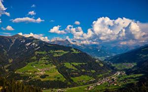 Fotos Schweiz Gebirge Alpen Wolke Furna