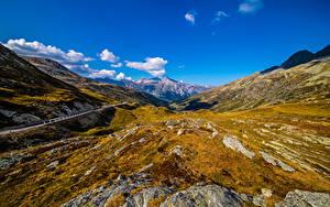 Fotos Schweiz Berg Steine Himmel Alpen