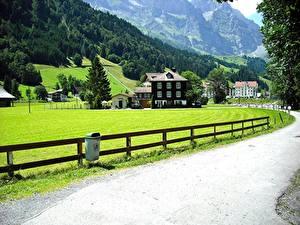Fotos Schweiz Wege Haus Zaun Alpen Lucerne, Canton of Schwyz Städte
