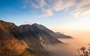 Desktop hintergrundbilder Taiwan Gebirge Himmel Laubmoose Beidawu National Trail Natur