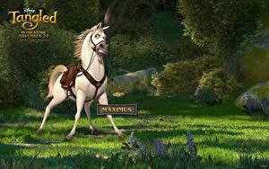 Wallpaper Tangled Horses Grass Maximus Cartoons